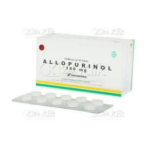 JUAL ALLOPURINOL BERNO 100MG TAB