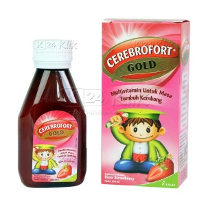 JUAL CEREBROFORT GOLD STRAWBERRY 100ML