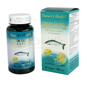Apotek Online - NATURE HEALTH VIRGIN S.OMEGA-3 LEMON CP 50'S