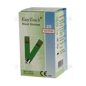 JUAL EASY TOUCH GLUCO TEST STRIP 25'S