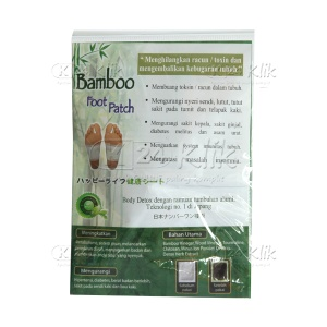 JUAL BAMBOO FOOT PATCH WHITE