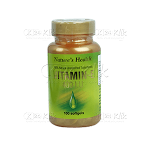 JUAL NATURE HEALTH VITAMIN E400IU CAP 100'S
