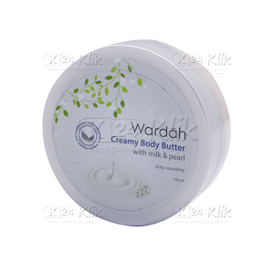 Apotek Online - WARDAH CREAMY BODY BUTTER MILK & PEARLS 150ML