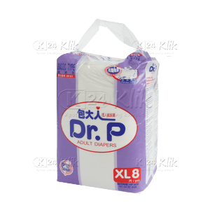 JUAL DR P PAMPERS DEWASA BASIC XL 8S