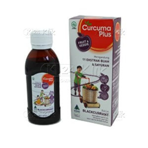 JUAL CURCUMA PLUS FRUIT VEGGIE SYR RASA BLACKCURANT 100ML