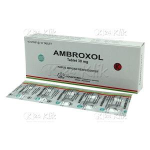 Apotek Online - AMBROXOL 30MG NOVAPHARIN TAB