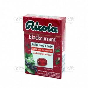 JUAL RICOLA SF BLACKCURRANT CANDY 45G