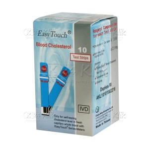 JUAL EASY TOUCH CHOLESTEROL STRIP 10'S