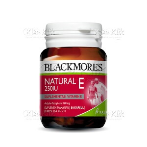 JUAL BLACKMORES NATURAL E 250IU SOFT CAPS 50S BTL