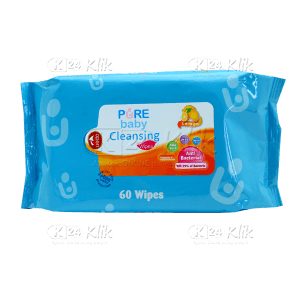 JUAL PUREBABY CLEANSING WIPES LEMON 60S