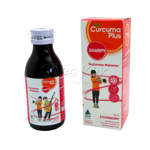 JUAL CURCUMA PLUS SHARPY STRAWBERRY 120ML