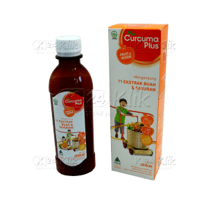 JUAL CURCUMA PLUS FRUIT VEGGIE SYR RASA ORANGE 200ML