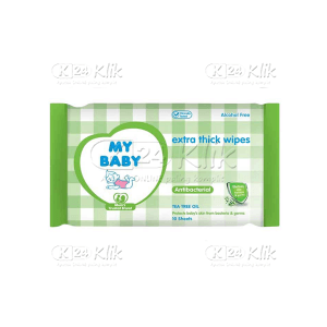 JUAL MY BABY ANTIBACTERIAL WIPES 10S