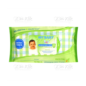 JUAL MY BABY ANTIBACTERIAL WIPES 50S