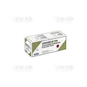 JUAL AMOXSAN DISPERSIBLE 250MG TAB 100S