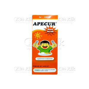 JUAL APECUR ORANGE SYR 100ML