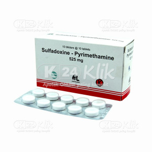JUAL SULFADOXIN PYRIMETHAMINE 525MG INDOFARMA
