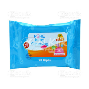 JUAL PURE BABY CLEANSING WIPES LEMON 20S