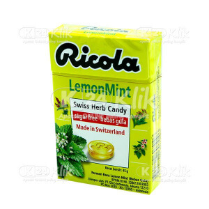 JUAL RICOLA SF LEMON MINT CANDY 45G