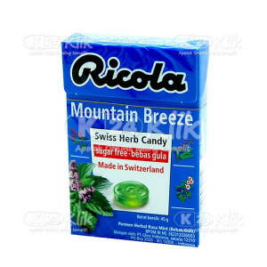 JUAL RICOLA SF MOUNTAIN BREEZE CANDY 45G