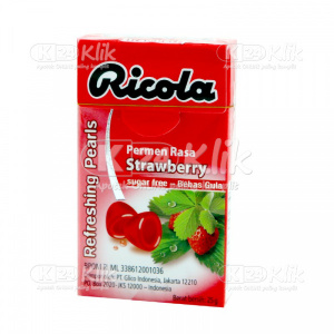 JUAL RICOLA FRESH PEARLS STRAWBERRY CANDY 25 G