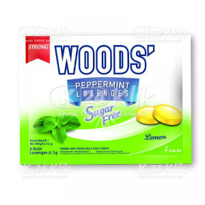 JUAL WOODS SUGAR FREE LEMON SACH 15S PCS