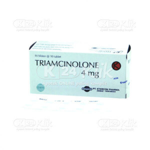 JUAL TRIAMCINOLON 4MG TAB 100S