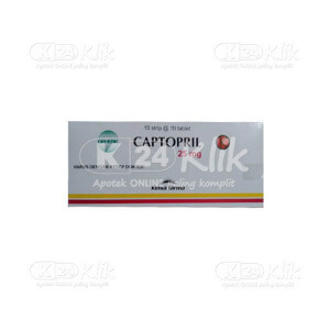 JUAL CAPTOPRIL KF 25MG TAB 100S