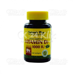 JUAL NATURE PLUS VITAMIN D3 1000IU SOFTGEL 180S BTL
