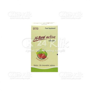 JUAL HI-BONE ACTIVE CHEW STRAWBERRY 30S