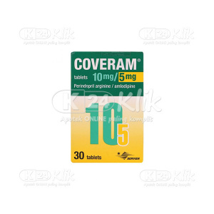 Apotek Online - COVERAM 10MG/5MG TAB 30S