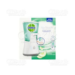 JUAL DETTOL NO TOUCH HAND WASH SYST + APLIC CUCUMBER 250ML
