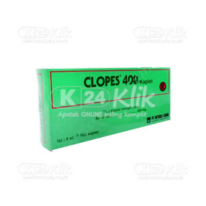 JUAL CLOPES 400MG TAB 30S