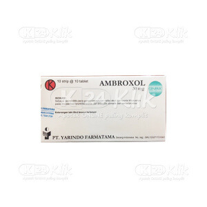 JUAL AMBROXOL YARINDO 30MG TAB 100S