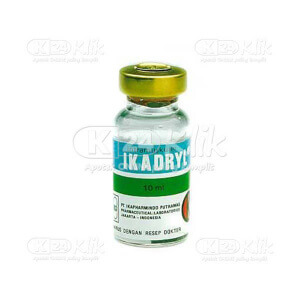 JUAL IKADRYL INJ 10ML FLACON