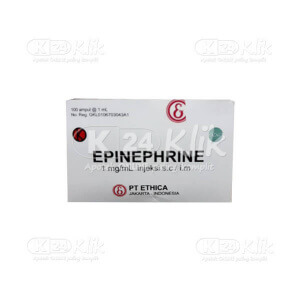 JUAL EPINEPHRINE ETHICA INJ AMPUL 10S