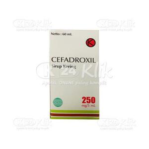 Apotek Online - CEFADROXIL NOVELL F 250MG/5ML D SYR 60ML