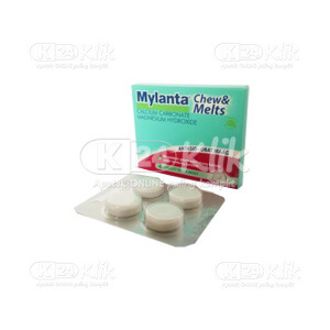 JUAL MYLANTA CHEW&MELTS MINT TAB 4S STRIP 12S