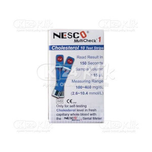 JUAL NESCO CHECK CHOLESTEROL STRIP 10S