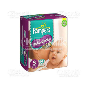 JUAL PAMPERS ACTIVE BABY S 22S