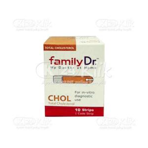 JUAL FAMILY DR CHOLESTEROL MONITORING STRIP 10S
