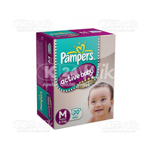 JUAL PAMPERS ACTIVE BABY M 20S