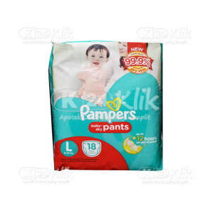 JUAL PAMPERS EASY UP PANTS L 18S