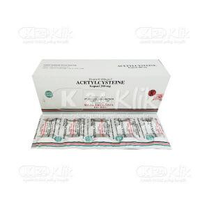 ACETYLCYSTEINE NULAB 200MG CAP 50S - Manfaat, Dosis,...