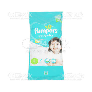 JUAL PAMPERS BABY DRY L 4S