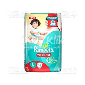 JUAL PAMPERS BABY DRY PANTS L 8S