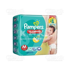 JUAL PAMPERS BABY DRY PANTS M 18S