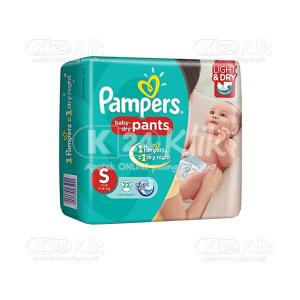 JUAL PAMPERS BABY DRY PANTS S 22S