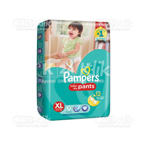 JUAL PAMPERS BABY DRY PANTS XL 7S