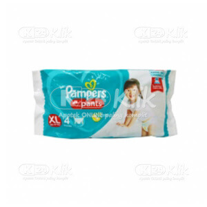 JUAL PAMPERS BABY DRY XL 4S